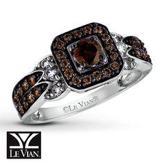 chocolate diamonds | Kay - LeVian Chocolate Diamonds 3/4 ct tw Ring 14K Vanilla Gold