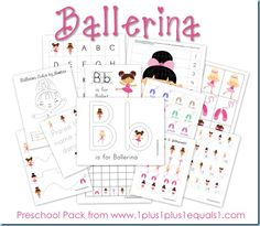 B is for Ballerina {Ballet Preschool Pack} Alphabet Activities, Educational Activities, Preschool Activities, Free Preschool, Language Activities, Toddler Preschool, Preschool Printables, Preschool Kindergarten, Free Printables