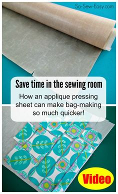 If you like to sew bags or use fusible interfacing, you NEED to see this about how you can do it so much quicker!