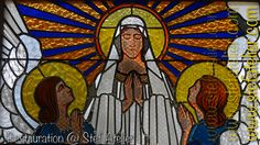 vitrail vierge et ange restauration vitrail chapelle