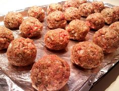 easy peasy and yummy meatballs...my saving grace at the end of the semester when i have zero monies and a lot of hamburger left. this way i don't starve/eat ramen
