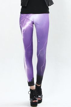 Lightning Print Leggings  $29.99