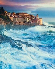Borgo Di Tellaro, Italy 🇮🇹 Being beaten by the raging sea by @jasolber on Instagram