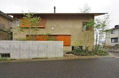 下田の庭 Facade Design, Entrance, Loft, Exterior, Places, Garden, Outdoor Decor, House, Image