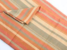 warm spice striped tablecloth