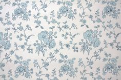 1950's Vintage Wallpaper  Floral Wallpaper by HannahsTreasures