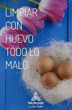 Si se presume que existe una energía negativa, se toma un huevo y se pasa por todo el cuerpo realizando invocaciones de sanación y protección.