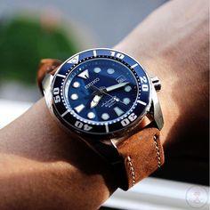 Seiko Automatic Scuba Watch (Kava Brown strap 22mm)