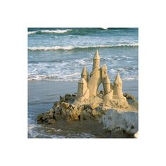 Out with the Tide - Sand Castle Spectacular - Photos - CoastalLiving.com found on Polyvore