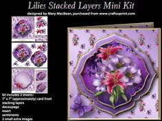 Lilies Stacked Layers Mini Kit on Craftsuprint - View Now!