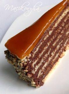 Macikonyha: Dobostorta Kolaci I Torte, Creme Brulee, Cake Recipes, Sweets, Snacks, Cookies, Baking, Food, Kitchen