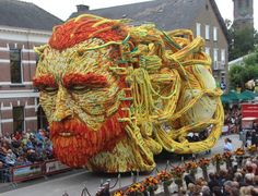 Flower floats in the Netherlands; each year these floats are made using millions and millions of flowers - one of the coolest parades I've ever seen and hands down the most genuinely artistic floats