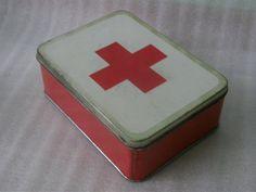 Vintage medical tin box.