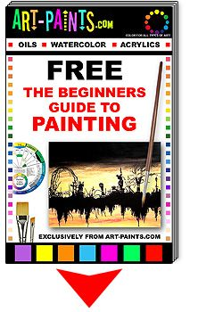 This is a GREAT and Totally FREE online beginner's guide to painting. It includes Oil, Watercolor and Acrylic and gives a comprehensive overview on materials, methods techniques and all sorts of other interesting stuff. If you've been considering starting painting, take a look - and best of all - It's totally FREE!!