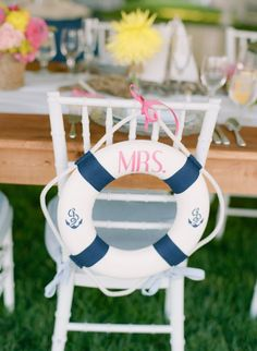 deco chaise repas mariage marin