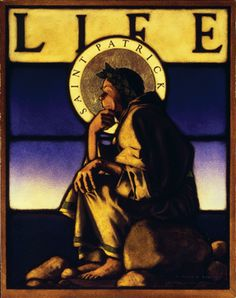 """""""St Patrick"""" appeared on the March 3, 1904, cover of Life.  Maxfield Parrish."""