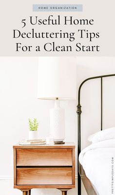 Tired of a cluttered home? Need some home organization tips to help you organize and declutter your living space so you can enjoy coming home after work? Click for tips that will help you tidy up your space and create a more minimalist living area. | Simple Lifestyle | Pretty Simple Days