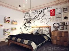 wall paintings for bedrooms - Google Search