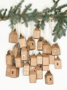 How to Make Cute Little Houses Advent Calendar