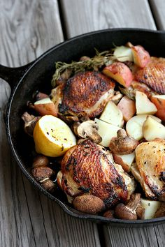 Skillet Rosemary Chicken - elly says opa!