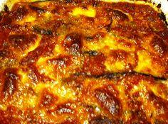 Courgette met aubergine en kastanjeschampignons. lLkker uit de oven!