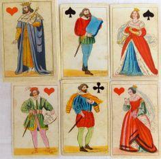 Chiari deck of cards. Italia XIX century(1850) . Reproduction of the original