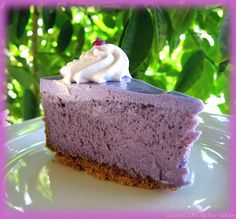 For those who LOVE purple... Ube (made from purple yams) Cheesecake