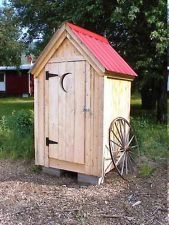 Diy Plans, 4x4 Outhouse Storage Shed, Garden/outdoor/backyard/tool Storage