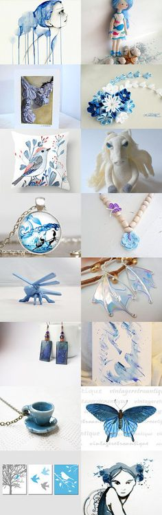 My Blue Whimsy ~ Spring 2015 Blue Gift Ideas ~ by Kathy Carroll on Etsy--Pinned with TreasuryPin.com
