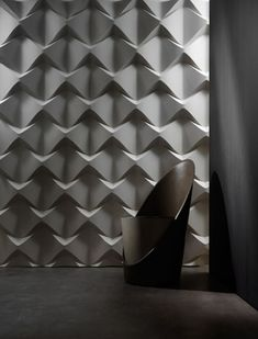 "by 3D Surface ""Chaos"" This material can add an interesting design to a space using light and shadow"