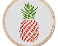 Pineapple , Counted Cross stitch, Pattern PDF, Cross Stitch Chart , Cute Cross Stitch, Cross stitch pattern, pixel art, 0286