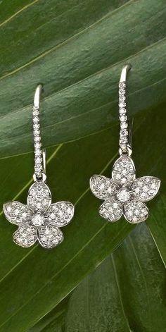 omantic and feminine diamond earrings