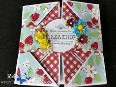 Scrapping with LUV: Growing in Unity Day 5 - Napkin Fold Card with Unity Other Stamps