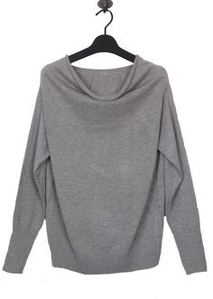 Light Grey Boat Neck Long Sleeve... simple and easy