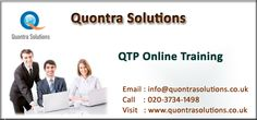 QTP online training offered by Quontra Solutions with special features having Extensive Training will be in both Online Training and Placement.  We help you in  conducting Mock Interviews.        Quontra Solutions is an Online Training Leader when it comes to high-end effective and efficient IT Training. We have always been and still are focusing on the key aspect which is providing utmost effective and  training to  students and professionals who are eager to enrich their technical skills.