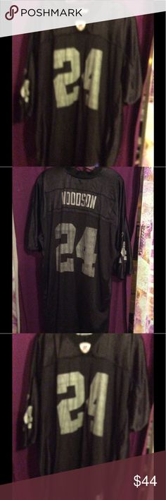 Vintage raiders jersey Ooldschool jersey has woodsonon back Reebok Shirts