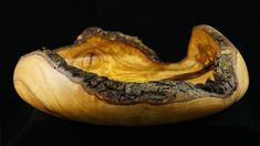 Woodturning a natural edge fruit bowl from olive wood  !! Ξυλοτορνος