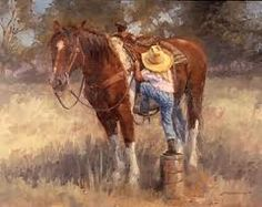 Browse little cowgirl pictures, photos, images, GIFs, and videos on Photobucket Little Cowgirl, Cowgirl And Horse, Cowboy Art, Horse Love, Cowboy Pics, Cowboy Quotes, Cowgirl Tuff, Clydesdale, Country Art