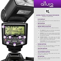 Altura Photo Professional I-TTL Auto-Focus Dedicated Flash (AP-N1001) for NIKON DSLR Cameras including D3200 D3100 D3000 D3300 D5000 D5100 D5200 D5300 D7000 D7100 D200 D300 D600 D610 D700 D750 D800 + Flash Stand + Protective Pouch + Hard Diffuser + MagicFiber Microfiber Lens Cleaning Cloth in the UAE. See prices, reviews and buy in Dubai, Abu Dhabi, Sharjah. Electronics - desertcart.com