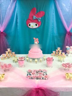 My Melody party decoration