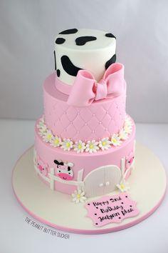 Farm Birthday Cakes, 1st Birthday Party For Girls, Farm Animal Birthday, Cowgirl Birthday, Girl 2nd Birthday, Birthday Party Themes, Birthday Ideas, Fiesta Theme Party, Farm Cake