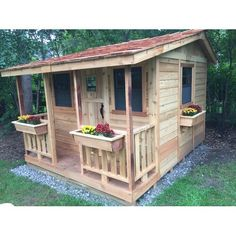 Outdoor Living Today Little Squirt x Playhouse Playhouse Type: Without Sandbox Outside Playhouse, Playhouse Kits, Build A Playhouse, Wooden Playhouse, Backyard Playhouse, Luxury Playhouses, She Sheds, Pergola Plans, Pergola Kits