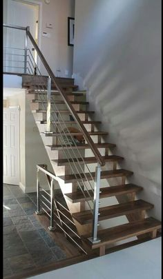 Toronto staircase walnut with a modern look