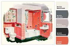 Color Scheme::1956 Kohler Bathroom   | Via: Daily Bungalow