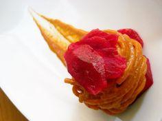 Spaghettoni Cavalieri Con crema di fico d'india profumati con vino rosso e pancetta. | Ricette | L'espresso food&wine