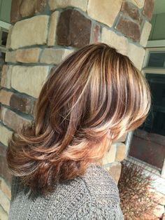 Spring hair! Auburn base with copper and blonde highlights