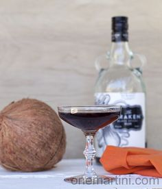 coconut kraken rum cocktail