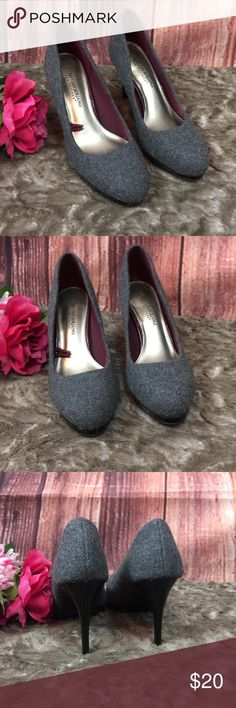 Christian Siriano for Payless Heels Christian Siriano for Payless Dark Gray fabric & black patent leather heels . Fabric upper balance with man made materials. Cushioned sole . Only worn once in EXCELLENT CONDITION!!!   4 inch heel  1/2 inch platform Christian Siriano Shoes Heels