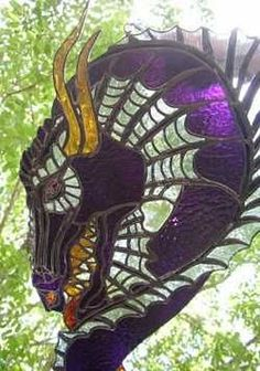 Dragon's Head Stained Glass