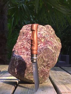 Opinel knife (No. 8) Modified/custom. (Tiki/Moai handle)